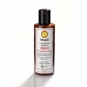 Khadi ayurvédikus sampon – Hibiszkusz Érzékeny fejbőrre