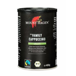 Mount Hagen bio Capuccino FairTrade családi kiszerelés dobozos 400g