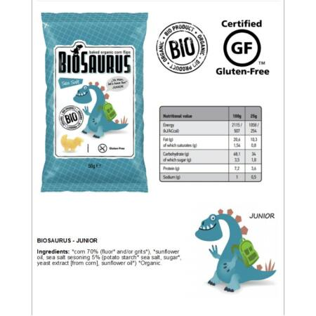 Biopont BIO Biosaurus kukoricasnack több ízben - 50 g