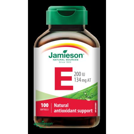 Jamieson E-vitamin 200 IU E-vitamin tartalmú étrend-kiegészítő kapszula 100 db