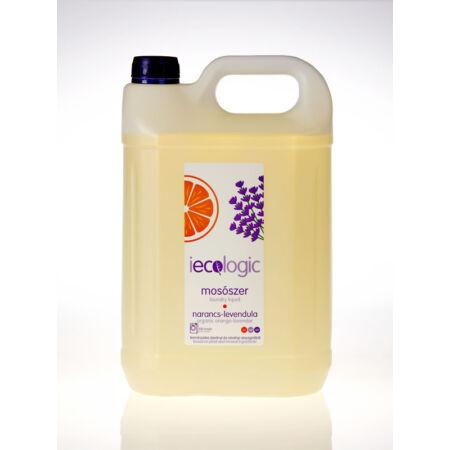 Iecologic folyékony bio mosószer konc. narancsolaj, levendula 5l