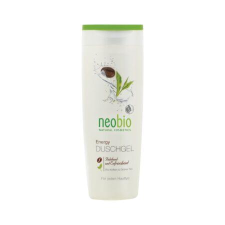 Neobio tusfürdő energy bio koffeinnnel és zöld teával 250 ml