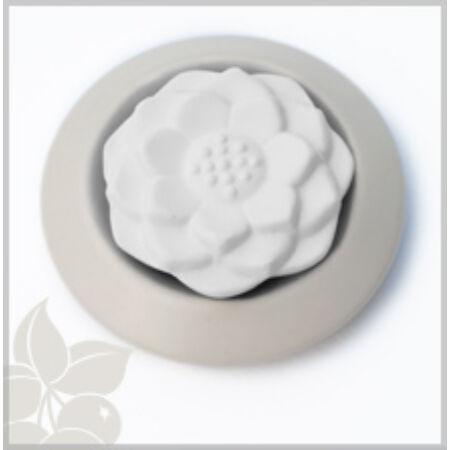 Hideg párologtató - fehér - lótusz virág mintával