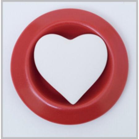 Hideg párologtató - vörös - szív mintával
