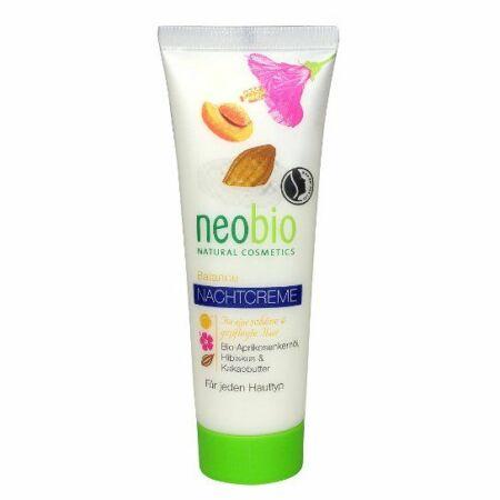 Neobio éjszakai krém vegyes bőrre Bio sárgabarackolajjal, hibiszkusszal, és Bio kakaóvajjal 50 ml
