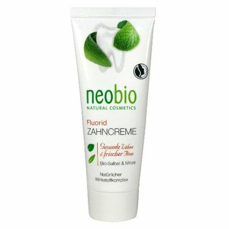 Neobio fogkrém fluoriddal, bio zsályával, és mentával 75 ml