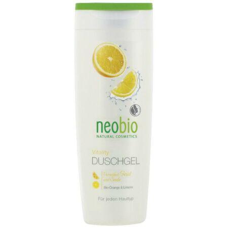 NEOBIO tusfürdő vitality - bio naranccsal és bio citrommal 250 ml