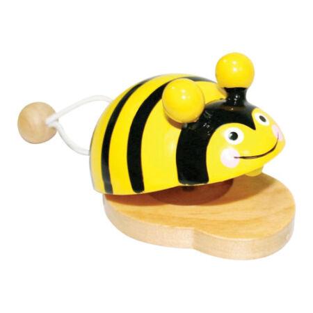 Kasztanyetta állatfigurás (méhecskés)
