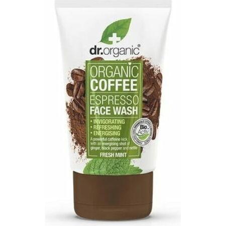 Dr. Organic Élénkítő arclemosó bio kávéval, 125 ml-KISÖPRÉS!