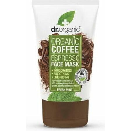 Dr. Organic Élénkítő arcpakolás bio kávéval, 125 ml-KISÖPRÉS!