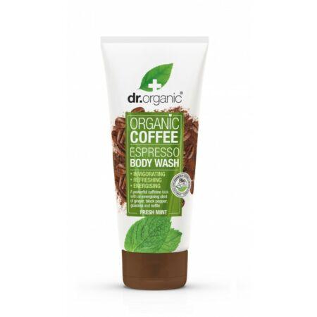 Dr. Organic Élénkítő tusfürdő bio kávéval, 200 ml-KISÖPRÉS!