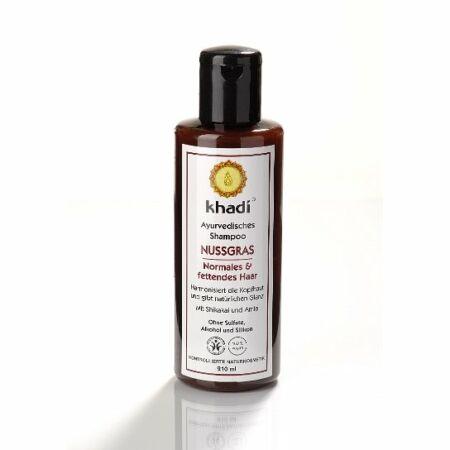 Khadi ayurvédikus sampon – Mandulafű Normál és zsíros hajra