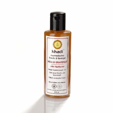 Khadi Ayurvédikus fürdő- és tusológél – Neem & Grapefruit