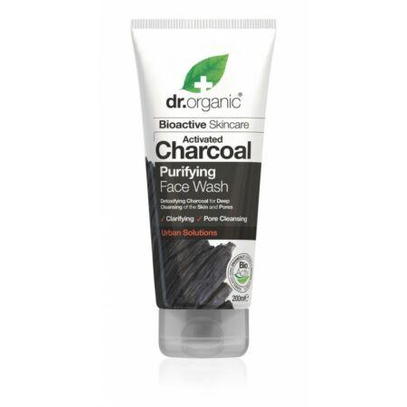 Dr. Organic Mélytisztító arclemosó aktív szénnel, 200 ml