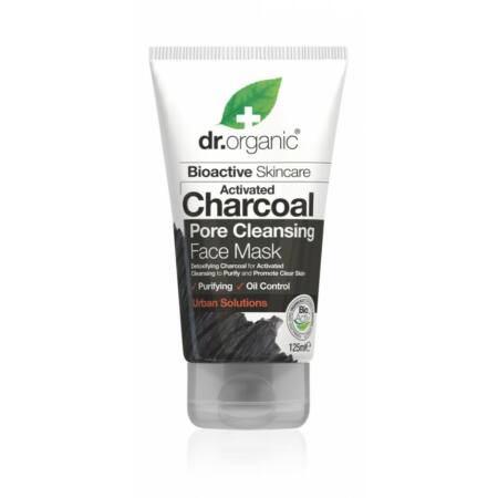 Dr. Organic Pórustisztító arcpakolás aktív szénnel, 125 ml