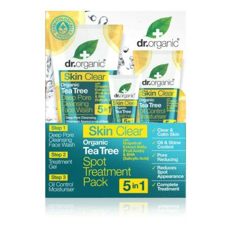 Dr. Organic Dr. Organic Skin Clear Pattanáskezelő szett 5 az1-ben (arclemosó, pattanásecsetelő gél, arckrém)