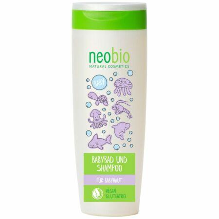 Neobio Baby 2 az 1-ben Fürdető és sampon, 250 ml