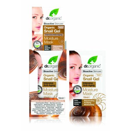 Dr. Organic Bioaktív csigagél hidratáló arcpakolás intenzív öregedésgátló hatással, 10 ml