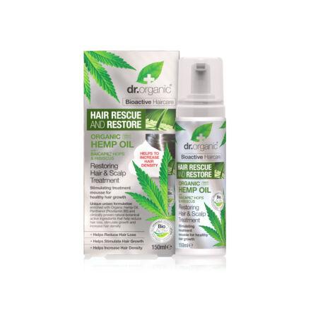 Dr. Organic Hajserkentő kezelés hajnövekedést támogató BaicapilTM formulával és bioaktív kendermagolajjal 150 ml