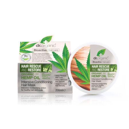 Dr. Organic Hajserkentő Intenzív hajpakolás hajnövekedést támogató BaicapilTM formulával és bioaktív kendermagolajjal 200 ml