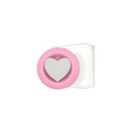 Hideg párologtató - rózsaszín - szív mintával