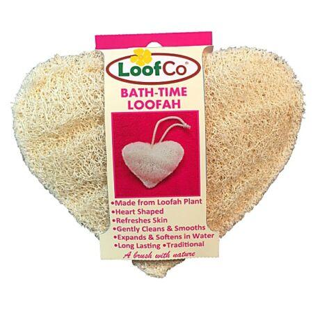 LoofCo Szív alakú luffa szivacs fürdéshez
