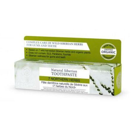 """Natura Siberica """"7 Northen Herbs"""" Fluoridmentes 7 gyógynövényes fogkrém"""