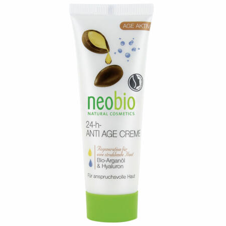 Neobio 24 órás öregedésgátló arckrém bio argánolajjal és hialuronsavval