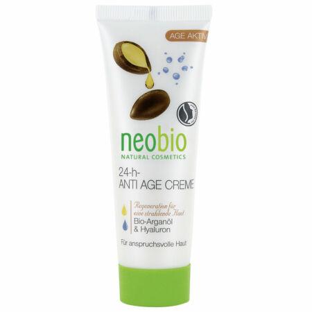 Neobio 24 órás öregedésgátló arckrém bio argánolajjal és hialuronsavval, 50ml