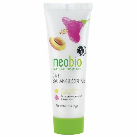 Neobio 24 órás Kiegyensúlyozó arckrém bio sárgabarackmag olajjal és hibiszkusszal, 50ml