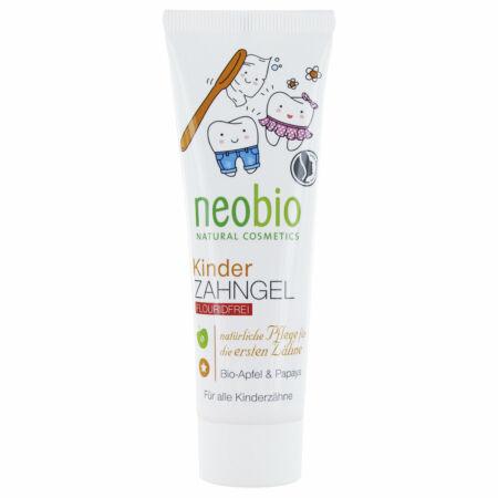 Neobio Fluoridmentes Gyermekfogkrém bio alma - és papayakivonattal, 50ml