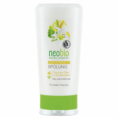 Neobio Regeneráló hajbalzsam fénytelen hajra bio fehérliliom - és moringakivonattal 150ml
