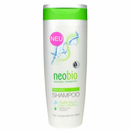 Neobio Szenzitív, illatmentes sampon érzékeny fejbőrre bio Aloe verával