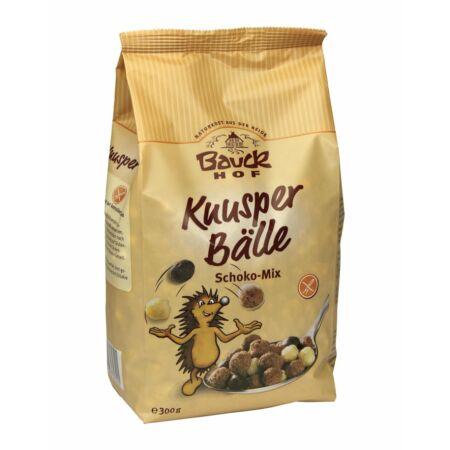 Bauck Hof Bio Gluténmentes ropogós reggeli golyók, csoki-mix 300g