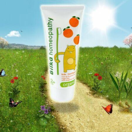 Bilka Homeopátiás gyermekfogkrém mandarin ízesítéssel 2+ (50ml)