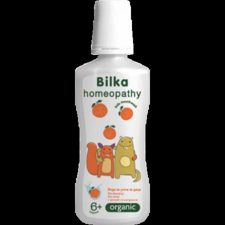 Bilka homeopátiás ORGANIC 6+ Gyermek Szájvíz Mandarin ízesítéssel, 250ml