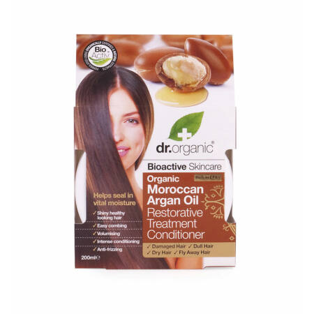 Dr Organic Regeneráló hajpakolás marokkói bio argán olajjal, 200 ml