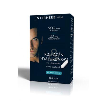 INTERHERB VITAL Kollagén&Hyaluronsav for Men kapszula 30db