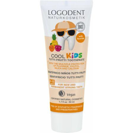 Logodent Cool Kids tutti-frutti ízű gyermekfogkrém, 50ml