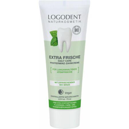 Logodent Extra Fresh Daily care fogkrém bio borsmentával, 75ml