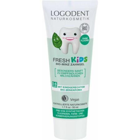 Logodent Fresh Kids Fluoridmentes gyermek foggél bio mentával, 50ml