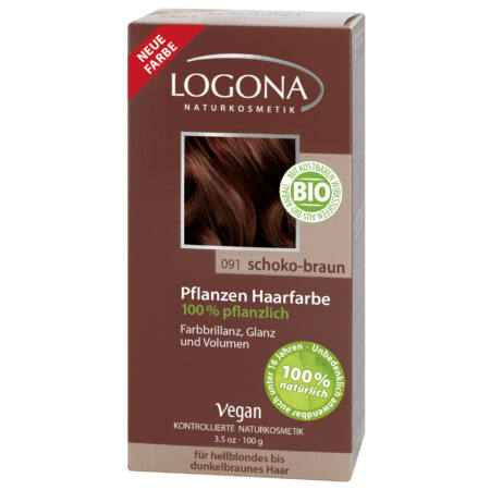 Logona Növényi hajfesték por - Csokoládébarna