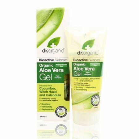 Dr Organic Bio Aloe Vera gél - uborkával, varázsmogyoróval és körömvirággal