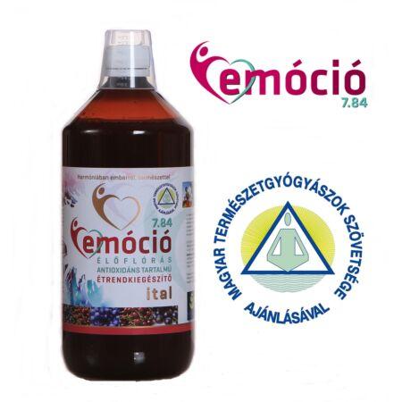 EMÓCIÓ 7.84: élőflórás, magas antioxidáns tartalmú étrend-kiegészítő ital (EM-Tech), 1l, AKCIÓ