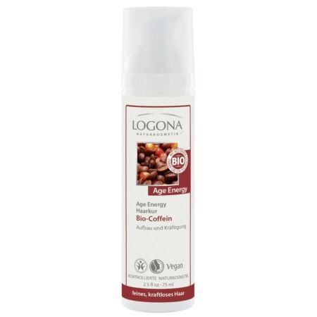 Logona Hajpakolás bio koffeinnel – vékonyszálú, erőtlen hajra