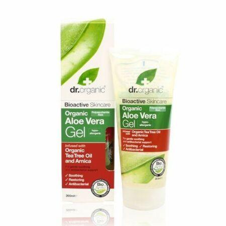 Dr Organic Bio Aloe Vera gél - teafa olajjal és árnikával