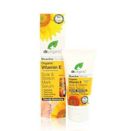 Dr Organic Bio E-vitaminos szérum hegek és terhességi csíkok ellen