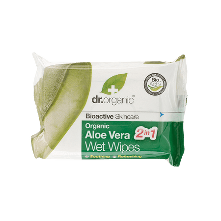 Dr Organic Bio Aloe Vera nedves törlőkendő