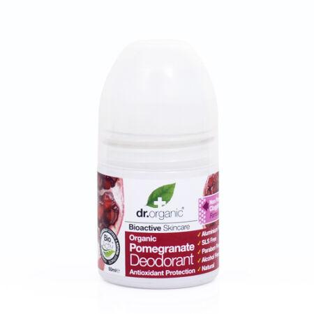 Dr Organic Bio Gránátalma aluminiummentes  golyós dezodor