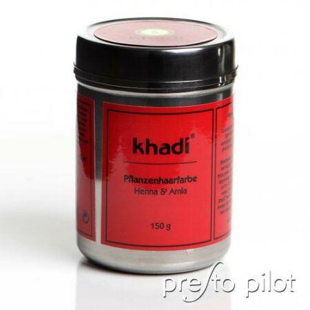 Khadi Növényi hajfesték por – Vörös; Henna és amla növényekkel
